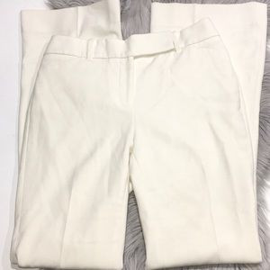 WHBM Ivory Trouser Wide Flare Leg Pants Size 4